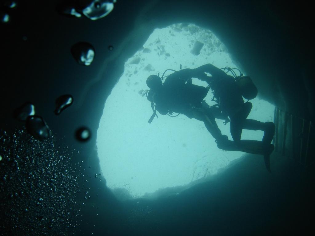 Photos De La Plongée Sous Glace à Lioson Suisse