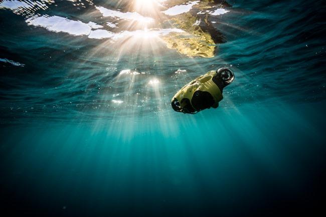 iBubble sous l'eau