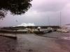 Petite tempête au port de Boulouris